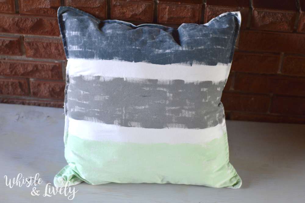 Hand-Painted Throw Pillows - Freshen your room with new throw pillows! No painting skills are requires to make these pretty, on-trend custom pillows.