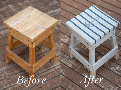 Nautical Stool Refinish
