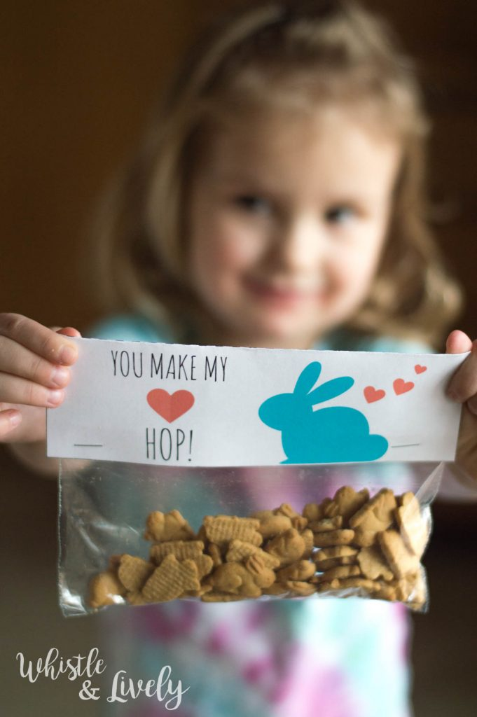 You Make My Heart Hop – FREE Bunny Valentine's Day Printable