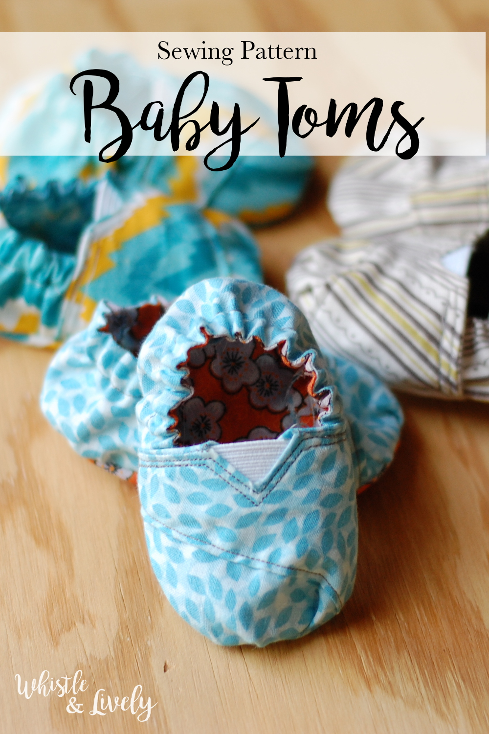 Tom's Inspired Baby Shoes - Sew your Little One these adorable little baby shoes, inspired by Tom's! With practice, anyone can make these cute shoes!