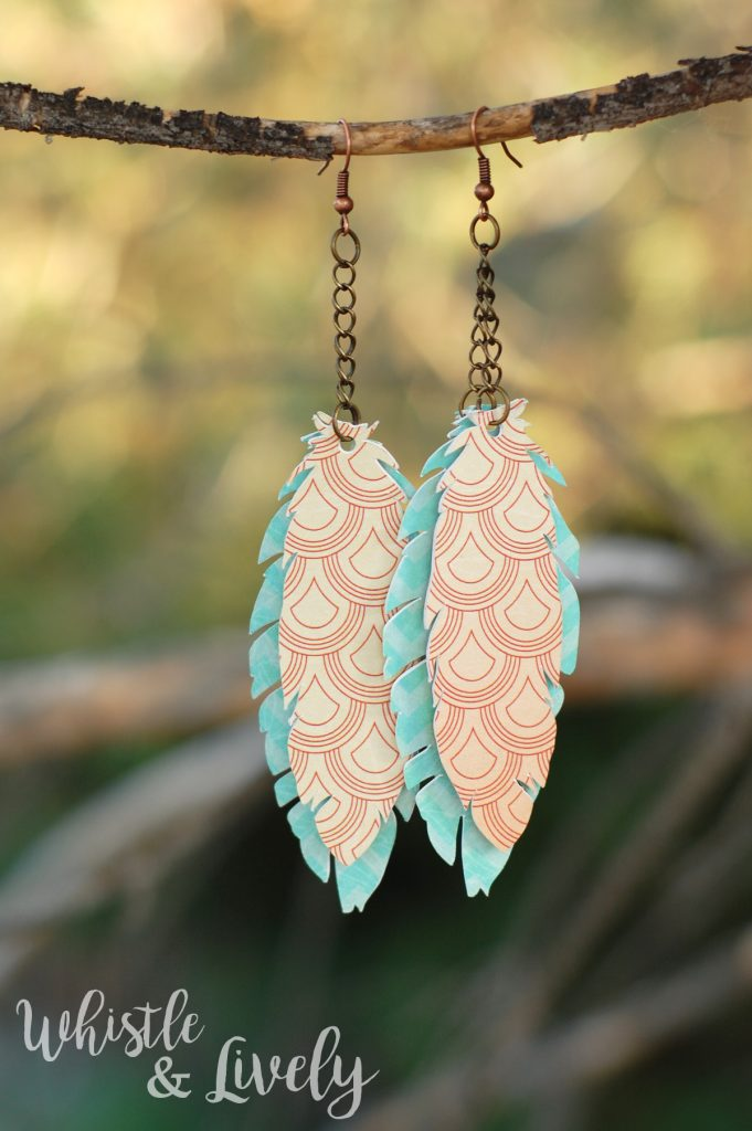 Paper Feather Earrings