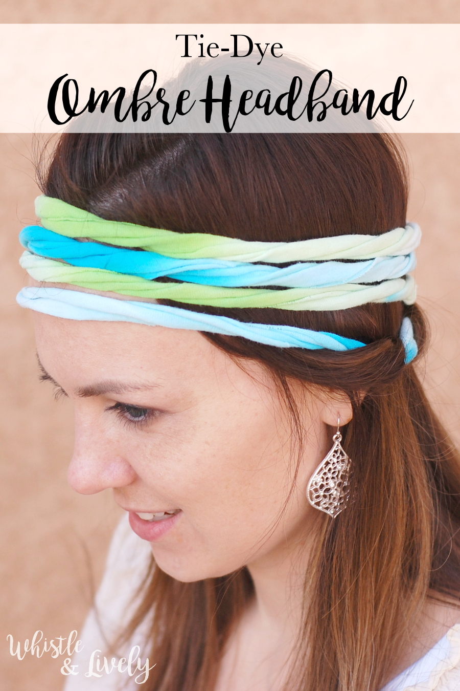 Ombre Tie Dye Headband - Make this cute, bright headband from a recycled t-shirt, a fun summertime pojrect. Perfect project for older kids!