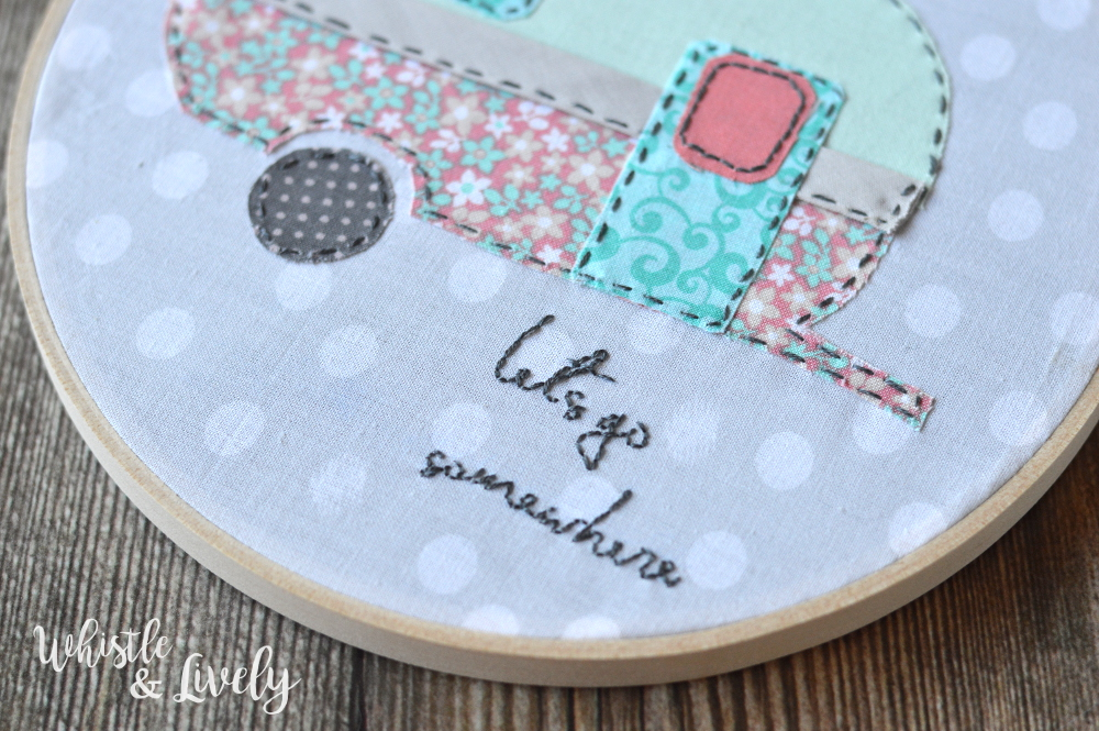 Vintage Camer Hoop Art - Make this fun and unique hoop art the a FREE template. Perfect for embroidery beginners, this project is quick and simple.