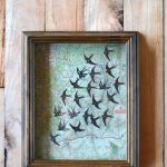 Map and Swallows Shadowbox