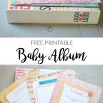 Easy Baby Album Printable – Free Printable!